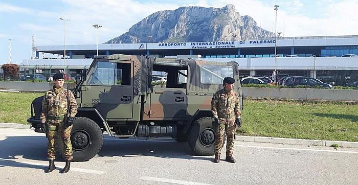 operazione strade sicure palermo (aeroporto)