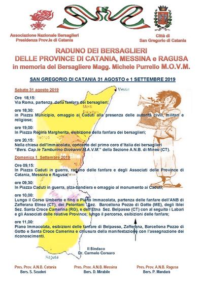 Raduno Triangolare Province di Messina Catania e Ragusa