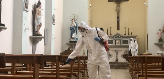 Igienizzazione Chiesa Madre di Gaggi