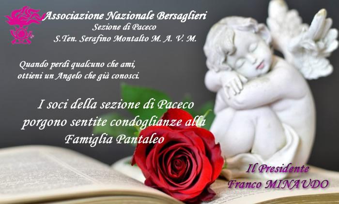 Sentite Condoglianze al vice Presidente Bers. Carlo Pantaleo