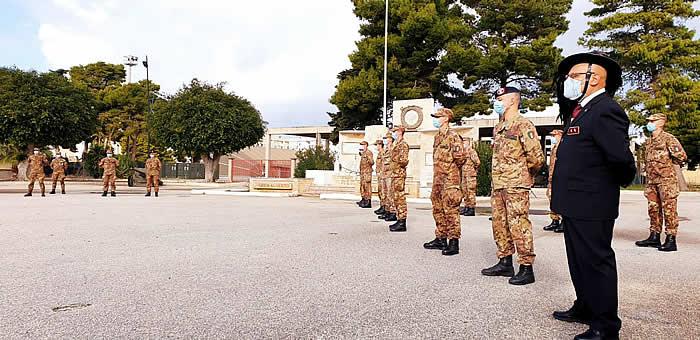 Cerimonia di consegna del Fez ai neo Bersaglieri del 6° Reggimento di stanza a Trapani