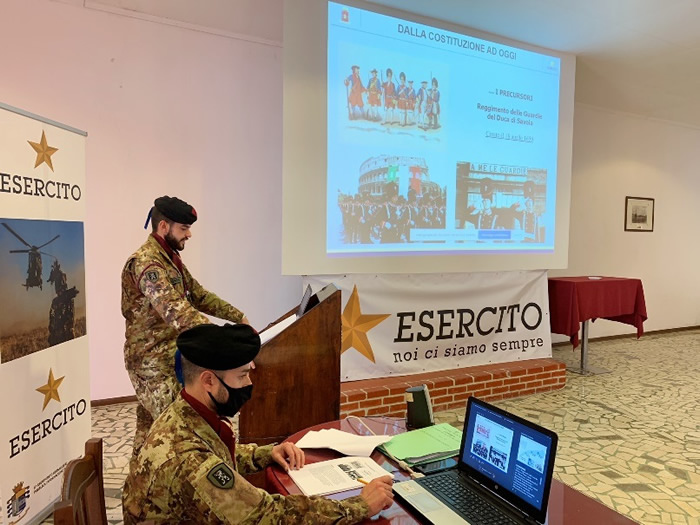 """Brigata """"Aosta"""" riprendono le attività promozionali da remoto a favore dei giovani in Sicilia"""
