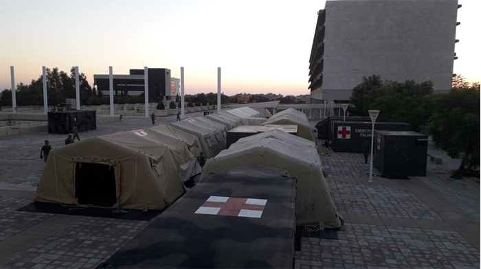 L'ospedale militare da campo dell'Esercito a Beirut