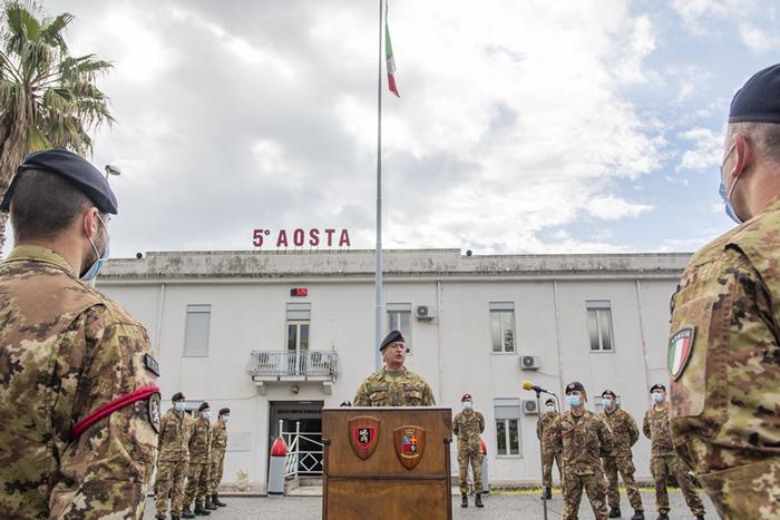 incontro con il personale del 5° reggimento fanteria Aosta di Messina